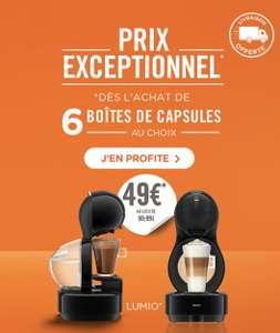 Machine à café Krups Dolce Gusto Lumio à 49€ pour l'achat de 6 boîtes de café au choix