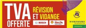 Sélection d'offres promotionnelles - Ex : 16.67% de réduction (TVA offerte) sur les Révisions et Vidanges