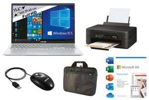 "PC Portable 15.6"" Asus R515JA-BQ967T (FHD IPS, i3 1005G1, 8Go RAM, 256 SSD) + Imprimante Epson XP2105 + Sacoche + Souris + Office 365"