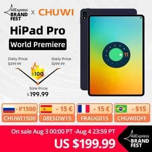 """Tablette 10.8"""" CHUWI HiPad Pro - 4G LTE, FHD, 8 Go de RAM, 128 Go de Stockage (Taxes incluses - 221.95€ via FRAUG015)"""