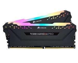 Kit mémoire RAM DDR4 Corsair Vengeance RGB Pro 16 Go (2x 8 Go) - 3600 MHz, CL18, Noir