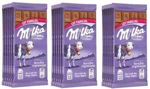Lot de 18 tablettes de chocolat Milka - 18x100 g, différentes variétés