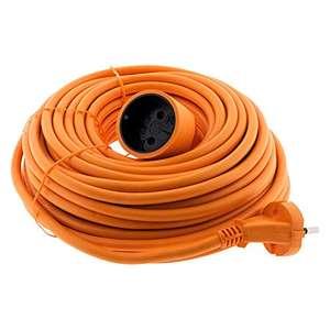 Rallonge électrique Zenitech - 20 m, 16 A, sans terre, orange