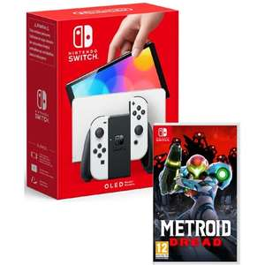 Pack Console Nintendo Switch OLED (Blanche ou Néon) + Metroid Dread