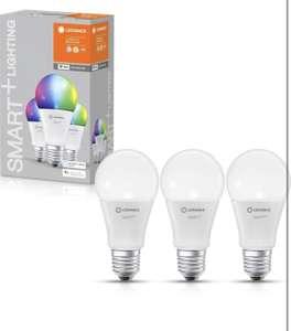 Lot de 3 ampoule LED couleur connectées LEDVANCE - E27, 9W compatibles avec Alexa , Google Home