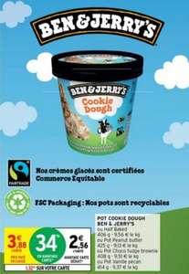 Pot de crème glacée Ben & Jerry's - différents parfums & quantités (via 1.32€ sur la carte de fidélité)