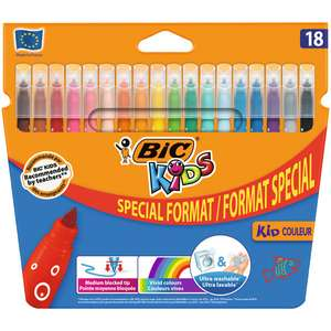 Pochette de 18 feutres ou crayons de Coloriage BIC Kids (via 1.23€ sur carte de fidélité)