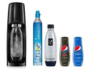 Pack Machine à gazéifier Sodastream Spirit Pepsi : 2 Bouteilles Fuse (2x 1 L) + 2 concentrés Pepsi + 1 Recharge de Co2