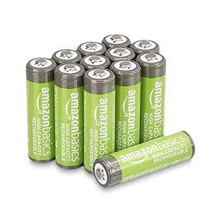 Lot de 12 piles rechargeables Amazon Basics AA - 2400 mAh, Pré-chargées