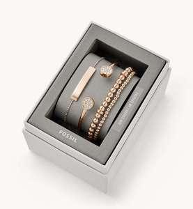 Coffret cadeau avec bracelet en acier doré rose