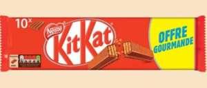 Lot de 10 barres chocolatées Kit Kat - 415g (Via 1€ sur la carte de fidélité)