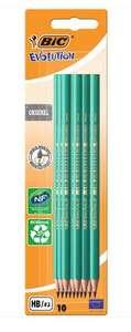 Lot de 10 Crayons HB Graphite BIC Evolution