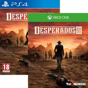 Jeu Desperados 3 sur Xbox One (18.43€ sur PS4)