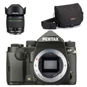 Réflex numérique Pentax KP + Objectif 18-55mm WR + Sacoche