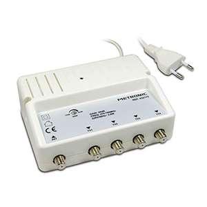 Amplificateur répartiteur Metronic 432175 blindé réglage de gain / 4 sorties fiche F