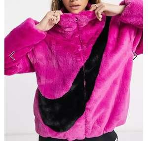 Veste en fausse fourrure Nike pour Femme - Violet, Tailles S & M