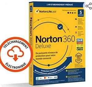 Abonnement de 1 An à Norton 360 Deluxe 2021 - 5 appareils (Dématérialisé)
