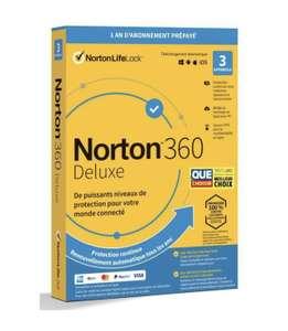 Abonnement de 1 An à Norton 360 Deluxe 2021 - 3 appareils (Dématérialisé) via l'achat d'un produit quelque soit le montant