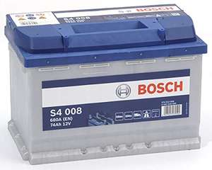 Batterie de voiture Bosch S4008 - 12V, 74A/h, 680A