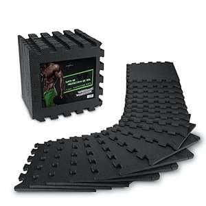 Lot de 18 plaques de tapis de sol AthleticPro - 31x31x1,2cm par plaque (vendeur tiers)