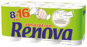 Paquet de 8 rouleaux XXL Essuie-tout Renova Absorption (via 8.40€ sur la carte fidélité)