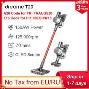 Aspirateur balai sans-fil Xiaomi Dreame T20 (231.51€ avec FRAUG020 - Entrepôt Espagne)
