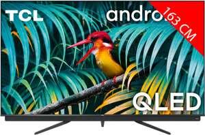 "TV 65"" TCL 65C811 - QLED, 4K UHD, 100 Hz, HDR 10+, Dolby Atmos & Vision, Android TV, avec barre de son Onkyo intégrée"