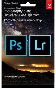 Licence de 12 mois à la suite Adobe Creative Cloud Photography Plan : Photoshop CC + Lightroom (Carte prépayée)