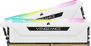 Mémoire RAM Corsair Vengeance Pro SL CMH32GX4M2E3200C16W 32 Go (2 x 16 Go) - RGB, DDR4, 3200MHz, C16