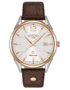 Selection de montres Roamers et Claude Bernard en promotion - Ex : Montre automatique Roamer Swiss Matic (41mm, Verre Saphir)