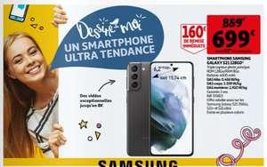 """Smartphone 6.2"""" Samsung Galaxy S21 5G - 8 Go RAM, 128 Go (via ODR 100€)"""