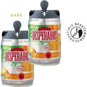 Lot de 2 fûts de bière aromatisée Desperados Tequila Beertender - 2x5 L