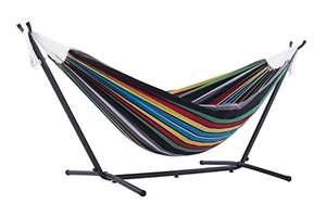 Hamac double avec support Vivere UHSDO8-27 - coloris Rio Nuit, 250x109x104 cm