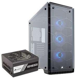Tour PC Corsair Crystal 570X RGB TG + alimentation PC Corsair RM650i - 650W