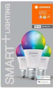Lot de 3 ampoules LED connectées Ledvance - E27, RVB, 9W équivalent 60W (vendeur tiers)