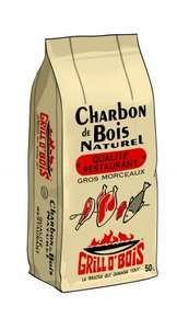 Charbon de bois naturel gros morceau qualité restaurant Grill'O'Bois (50 L) - Halle o Discount Lognes (77) / Noiseau (94)