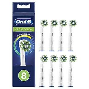 Lot de 8 brossettes pour brosse à dents électrique Oral-B Cross Action CleanMaximiser