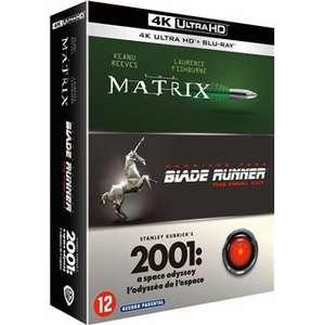 Coffret 3 Blu-Ray 4K : Matrix + Blade Runner + 2001 : l'Odyssée de l'Espace