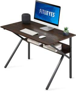 Bureau d'ordinateur Fitueyes - Marron, forme en K, 106 x 60 x 75 cm (vendeur tiers - via coupon)