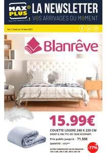 Couette Blanrêve légère - 240 x 220 cm