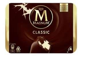 Paquet de 4 glaces Magnum Classic - 316 g (via 0.77€ sur la carte fidélité) - Albi (81)