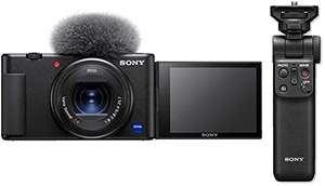 Pack appareil photo compact Sony ZV-1 (20.1 Mpix, 4K HDR, avec objectif Carl Zeiss Vario-Sonnar T* 24-70 mm) + poignée Sony GP-VPT2BT