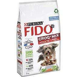 Paquet de croquettes pour chien Fido Croq Mix adulte (3kg) ou Senior(2,5kg) - Villeurbanne (69)