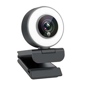 Webcam Angetube - full HD, autofocus, avec anneau LED (vendeur tiers)