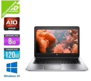 "PC Portable 14"" HP EliteBook 745 G2 (HD+, AMD A10 Pro 7350B, 8Go Go RAM DDR3 , 120 Go SSD, Windows 10) - Reconditionné"