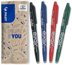 Paquet de 4 stylos Pilot FriXion Ball - effaçable, Noir/Bleu/Rouge/Vert, Pointe moyenne 0.7mm