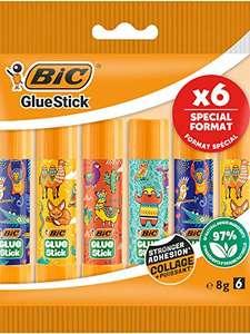 Paquet de 6 bâtons de colle BIC GlueStick Ecolutions - 6x8 g