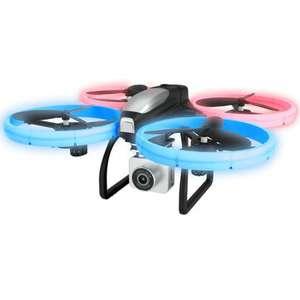 Drone quadricoptère RTF Eachine E020 - avec caméra 4K HD, batterie et télécommande, gyroscope 6 axes, vol stationnaire, LEDs, Wi-Fi FPV