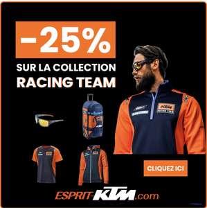 25% de réduction sur la collection Racing team (esprit-ktm.com)