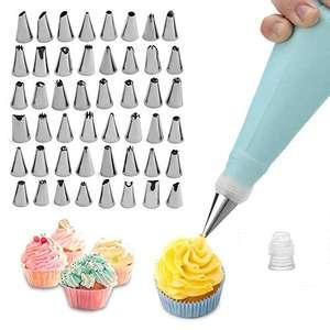 Kits Jackify pour Décoration de Gâteaux - 48 Douilles + 1 Poches à Douille Réutilisable + 1 Coupleurs (Vendeur Tiers)